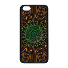 Vibrant Colorful Abstract Pattern Seamless Apple iPhone 5C Seamless Case (Black)