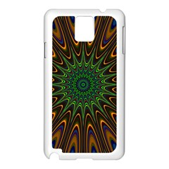 Vibrant Colorful Abstract Pattern Seamless Samsung Galaxy Note 3 N9005 Case (White)