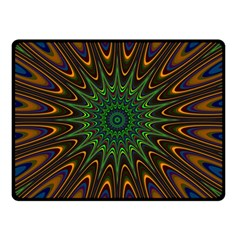 Vibrant Colorful Abstract Pattern Seamless Double Sided Fleece Blanket (Small)