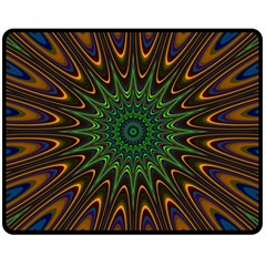 Vibrant Colorful Abstract Pattern Seamless Double Sided Fleece Blanket (Medium)