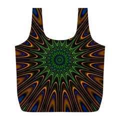 Vibrant Colorful Abstract Pattern Seamless Full Print Recycle Bags (L)