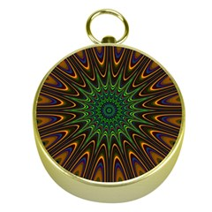 Vibrant Colorful Abstract Pattern Seamless Gold Compasses