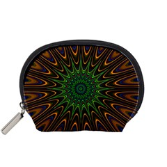 Vibrant Colorful Abstract Pattern Seamless Accessory Pouches (Small)
