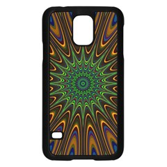 Vibrant Colorful Abstract Pattern Seamless Samsung Galaxy S5 Case (Black)
