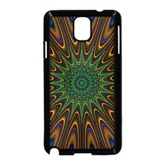 Vibrant Colorful Abstract Pattern Seamless Samsung Galaxy Note 3 Neo Hardshell Case (Black)
