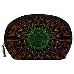 Vibrant Colorful Abstract Pattern Seamless Accessory Pouches (Large)