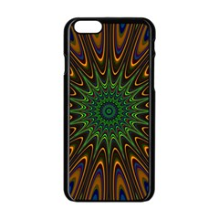 Vibrant Colorful Abstract Pattern Seamless Apple iPhone 6/6S Black Enamel Case