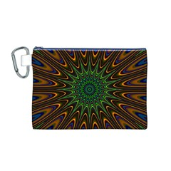 Vibrant Colorful Abstract Pattern Seamless Canvas Cosmetic Bag (M)