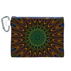 Vibrant Colorful Abstract Pattern Seamless Canvas Cosmetic Bag (XL)