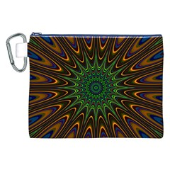 Vibrant Colorful Abstract Pattern Seamless Canvas Cosmetic Bag (XXL)