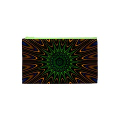 Vibrant Colorful Abstract Pattern Seamless Cosmetic Bag (XS)