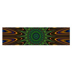 Vibrant Colorful Abstract Pattern Seamless Satin Scarf (oblong)