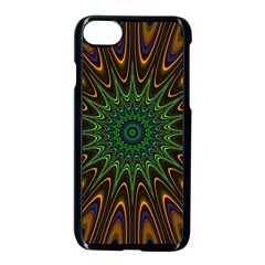 Vibrant Colorful Abstract Pattern Seamless Apple iPhone 7 Seamless Case (Black)