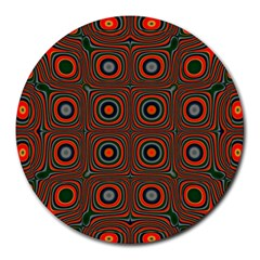 Vibrant Pattern Seamless Colorful Round Mousepads
