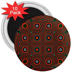 Vibrant Pattern Seamless Colorful 3  Magnets (10 Pack)