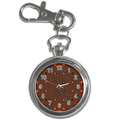 Vibrant Pattern Seamless Colorful Key Chain Watches