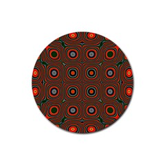 Vibrant Pattern Seamless Colorful Rubber Coaster (Round)