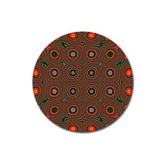 Vibrant Pattern Seamless Colorful Magnet 3  (round)