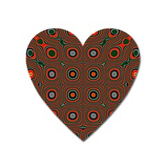 Vibrant Pattern Seamless Colorful Heart Magnet