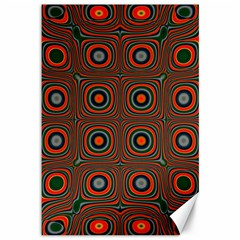 Vibrant Pattern Seamless Colorful Canvas 12  X 18