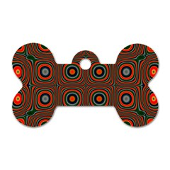 Vibrant Pattern Seamless Colorful Dog Tag Bone (two Sides)