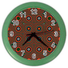 Vibrant Pattern Seamless Colorful Color Wall Clocks