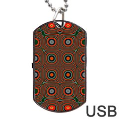Vibrant Pattern Seamless Colorful Dog Tag Usb Flash (one Side)
