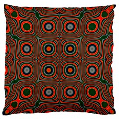 Vibrant Pattern Seamless Colorful Large Cushion Case (Two Sides)