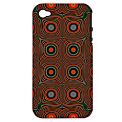 Vibrant Pattern Seamless Colorful Apple iPhone 4/4S Hardshell Case (PC+Silicone)