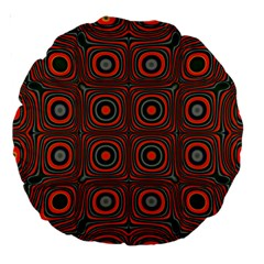 Vibrant Pattern Seamless Colorful Large 18  Premium Round Cushions