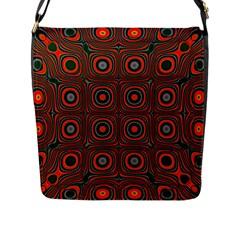 Vibrant Pattern Seamless Colorful Flap Messenger Bag (L)