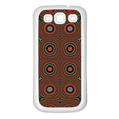 Vibrant Pattern Seamless Colorful Samsung Galaxy S3 Back Case (White)