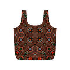 Vibrant Pattern Seamless Colorful Full Print Recycle Bags (S)
