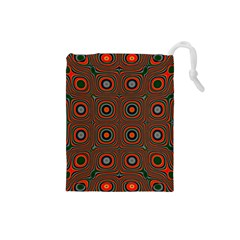 Vibrant Pattern Seamless Colorful Drawstring Pouches (Small)