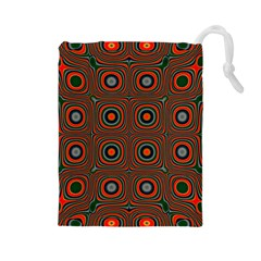 Vibrant Pattern Seamless Colorful Drawstring Pouches (large)