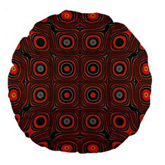 Vibrant Pattern Seamless Colorful Large 18  Premium Flano Round Cushions