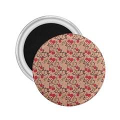 Vintage flower pattern  2.25  Magnets
