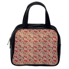 Vintage flower pattern  Classic Handbags (One Side)