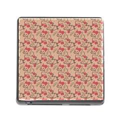 Vintage flower pattern  Memory Card Reader (Square)