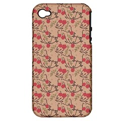 Vintage flower pattern  Apple iPhone 4/4S Hardshell Case (PC+Silicone)