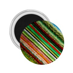 Colorful Stripe Extrude Background 2.25  Magnets