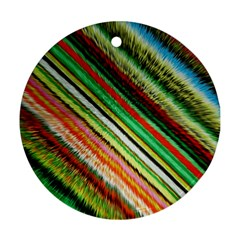 Colorful Stripe Extrude Background Ornament (Round)