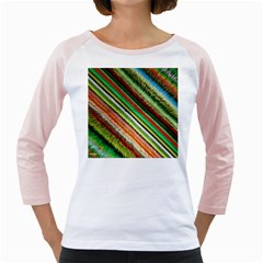 Colorful Stripe Extrude Background Girly Raglans