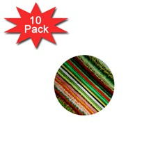 Colorful Stripe Extrude Background 1  Mini Buttons (10 Pack)