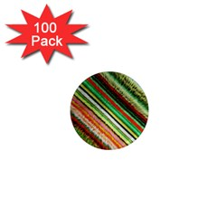 Colorful Stripe Extrude Background 1  Mini Magnets (100 Pack)