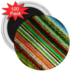 Colorful Stripe Extrude Background 3  Magnets (100 Pack)