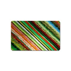 Colorful Stripe Extrude Background Magnet (Name Card)