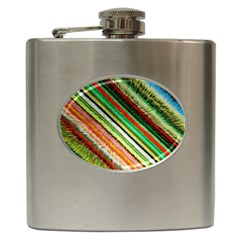 Colorful Stripe Extrude Background Hip Flask (6 Oz)