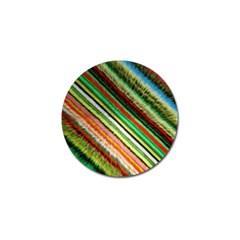 Colorful Stripe Extrude Background Golf Ball Marker (4 pack)
