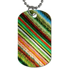 Colorful Stripe Extrude Background Dog Tag (Two Sides)